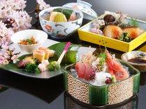 【春】先付・八寸・お刺身・焼魚・焚き合せなど季節感いっぱいのお料理