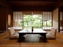 日本を代表する建築家吉村順三氏作のお部屋は落ち着きのある空間