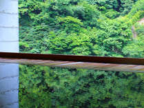【露天風呂】目の前は黒部峡谷の絶景。まるで1枚の絵画のような樹齢四百年の総檜露天風呂「華の湯」