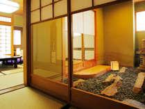 【対峰閣】石庭付きの風韻な客室。