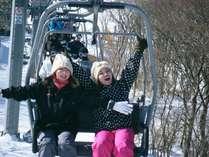 【九重公園スキー場】さあ~今から滑るぞぅ~~~コテージから近いので冬の遊びとしては最高\(^o^)/