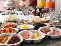 和食・洋食の朝食バイキング