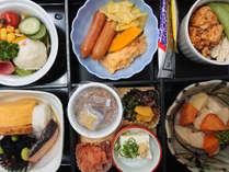 和洋朝食膳(4月15日~6月30日まで朝食バイキングは休止となります。ご了承くださいませ。)