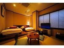 ◆和モダン・低反発ツインベット「22平米」(テンピュール社製のベッドとピロー)