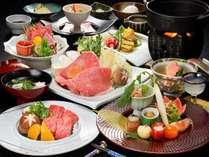 ◆肉三昧の日P・2名で平日29,300円(税別)●米沢牛肉三昧膳+炙り牛にぎり付!毎月2・3・9・13・19・23日