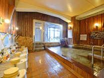 *【大浴場】つるつるしっとりのお湯が自慢です