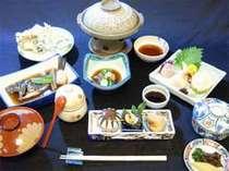 瀬戸内海の海の恵みを使った会席料理。※イメージ