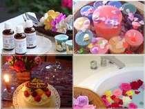 エステや薔薇風呂、キャンドルアロマバス、記念日など各種サービス有(有料・問合せ)