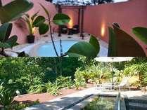 ガーデンスパの湯森と湯空はスパプランのお客様専用の貸切の露天風呂