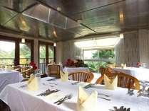 リストランテオッキドーロ。緑に囲まれたイタリアンレストラン。
