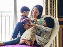 お子様ものびのび過ごせる快適空間♪家族だんらんを邪魔しない広々客室♪