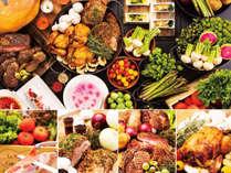 <4~5月限定>★彩り季節野菜と豪快!肉祭り★