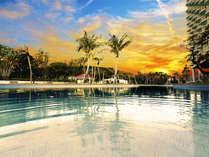 新館リノベーションルーム×県内最大級プール×トロピカルビーチでリゾートステイ