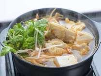 【冬季限定】選べる鍋定食&天然温泉で体ぽかぽか<チゲ鍋・ごま豆乳鍋・ゆず塩鍋>