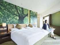 日本の自然をテーマつくられた癒しの客室。「森」「海」「空」「花」4つのフロアがございます。