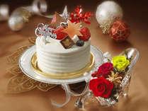 ふたりのクリスマス〜ホテル特製クリスマスケーキ&プリザーブドフラワーギフト付〜