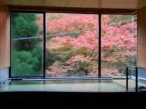 大浴場「彩」からの紅葉