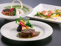 【夕食】FONTANA:創作料理フルコース/プレミアムメニュー(一例)