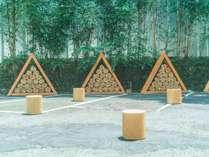 全プランに無料で薪がついており、中庭やテラスルームで焚火をお楽しみいただけます。
