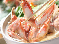 【カニすき鍋】姿蟹・雑炊セット付 日本海に行かなくても美味しい蟹がお召し上がりいただけます。