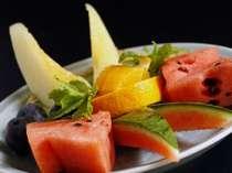 フルーツ&シャベーットプランに付くフルーツ一例(季節ごとに変わります)