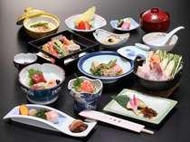 当館オリジナルミルク味噌鍋をメインとした和会席料理(料理一例)