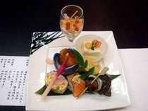 旬の味覚を味わう!会席料理、前菜の一例,愛媛県,ターミナルホテル東予