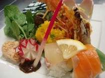 見た目にも華やかに!会席料理、前菜の一例,愛媛県,ターミナルホテル東予