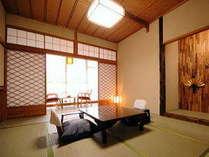 【お部屋一例】最大5名様定員のゆとりと安らぎそして清潔感溢れる和室でごゆっくりお過ごしください