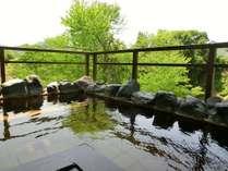 【露天風呂】初夏の露天風呂