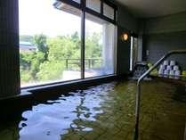 【大浴場】湯量豊富な源泉かけ流し天然温泉