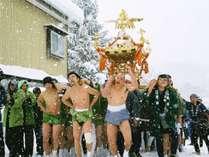 【2月第2日曜日】謝湯 雪中神輿