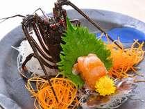 ■プリッっとした食感でほんのりと甘い「伊勢海老の姿造り」をお付けしたプランです。