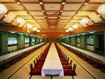 ■宴会場は和室36畳~250畳まで5つの大宴会場と、12畳~25畳までの7つの小宴会場がございます。