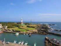 野島崎灯台と太平洋を望む全室オーシャンビューが自慢のお部屋です。