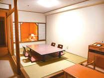 【禁煙】和洋室(和室6畳+ツインベッド/バス・トイレ付き)