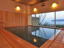 大浴場は『桜の湯』と『波の湯』が男女入替制!檜の香りと熱海温泉をお愉しみください[大浴場・桜の湯]
