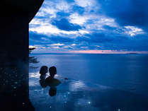 【2018年4月OPENスパリウムニシキ】インフィニティデザインの露天風呂は海へと続く絶景景色