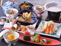 【和食会席スタンダード】新鮮な魚介をふんだんに使用した、オリジナルの会席料理