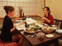 【餐火讃花】食事は、全室掘りごたつ式の個室で味わえる♪
