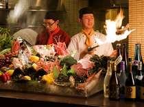 【餐火讃花】オープンキッチングルメ食材をご賞味ください(一例)。