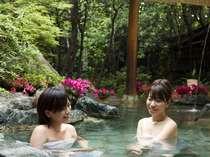 【花てらす】四季の花々を眺めながら外湯感覚で愉しめる露天風呂が揃う