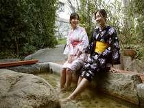 【花てらす】足湯:気軽に温泉を愉しむなら、花てらすにある足湯で…