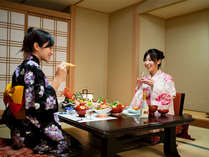 【女子旅】周辺を気にせずゆっくりと旬の会席料理をお楽しみいただけます♪