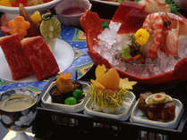 【季の彩り会席】牛ステーキや旬のお造りなど全11品(秋冬・一例)