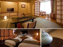 【らくわ和洋室】♪和室とベッドルームの二間続きの特別室(一例)