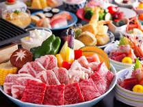 【夏休み限定】天婦羅・寿司食べ放題+じゅうじゅう焼会席