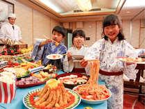 【夏休みファミリー】客前料理食べ放題♪