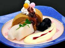 夕食デザートに和三盆ロールケーキ付♪(一例)
