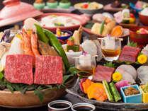 【レストラン/基本会席】和牛と海の幸の石焼付基本会席(一例)